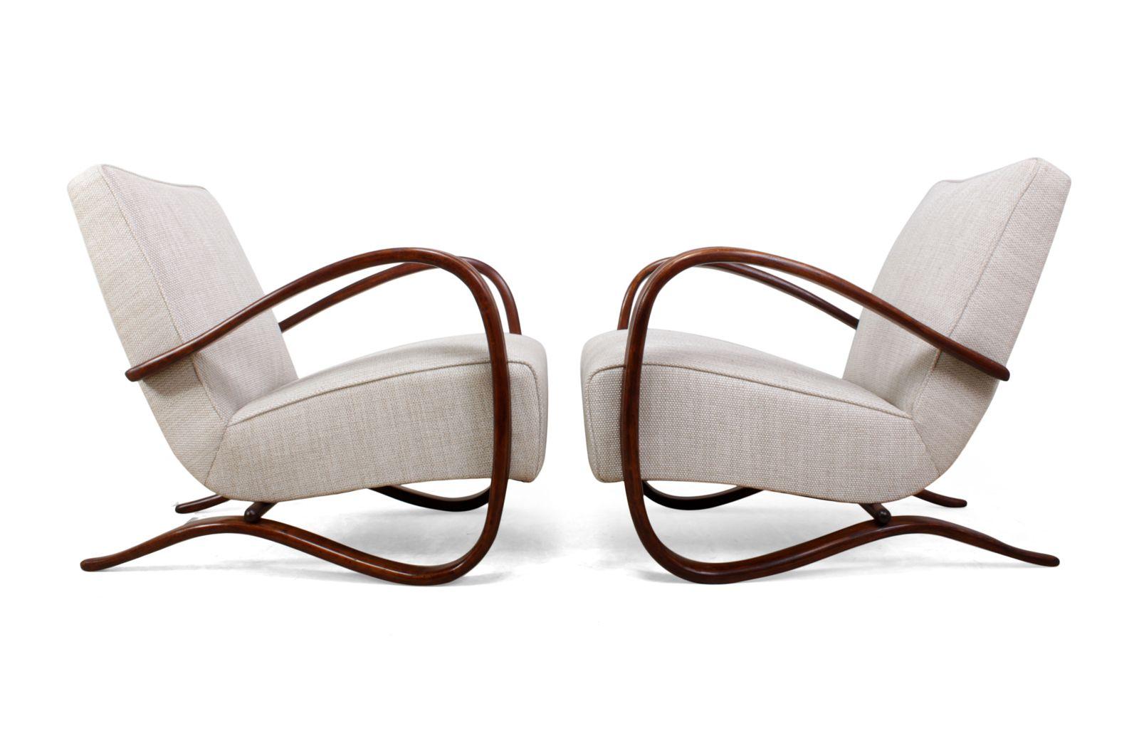 Model H269 Chairs By Jindřich Halabala 1940s Set Of 2