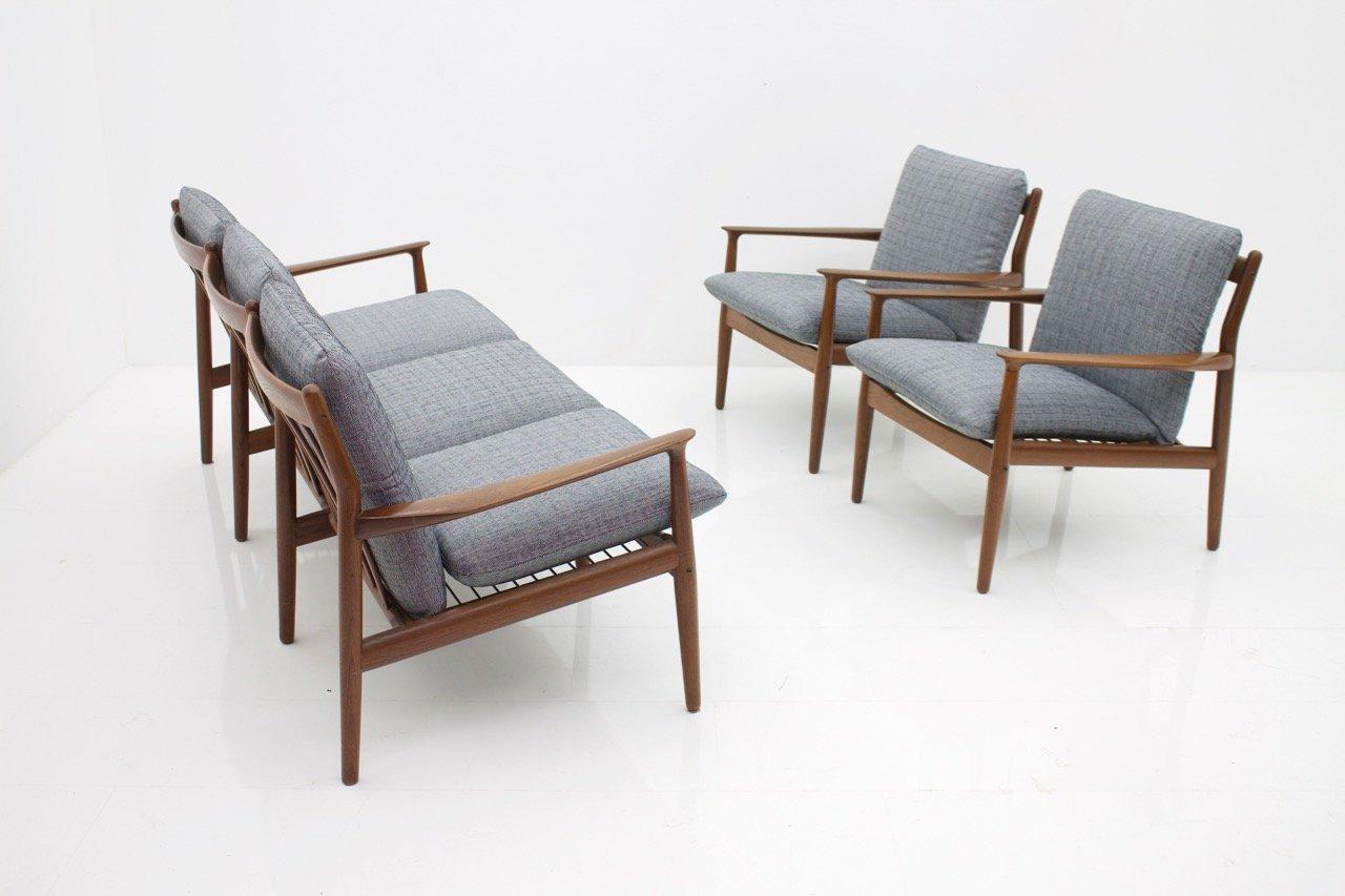 Danish Teak Living Room Set by Grete Jalk for Glostrup, 1960s for ...