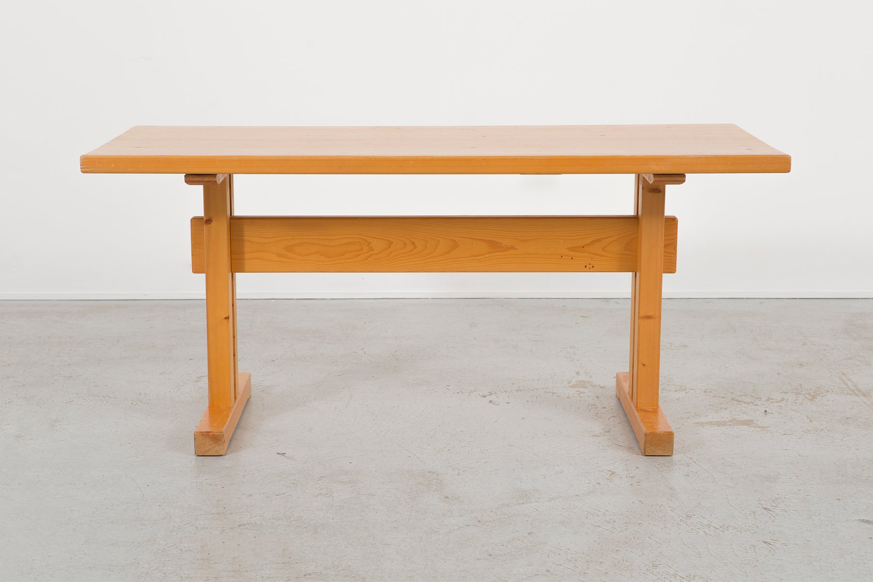 Mid Century Les Arcs Pine Dining Table By Charlotte Perriand
