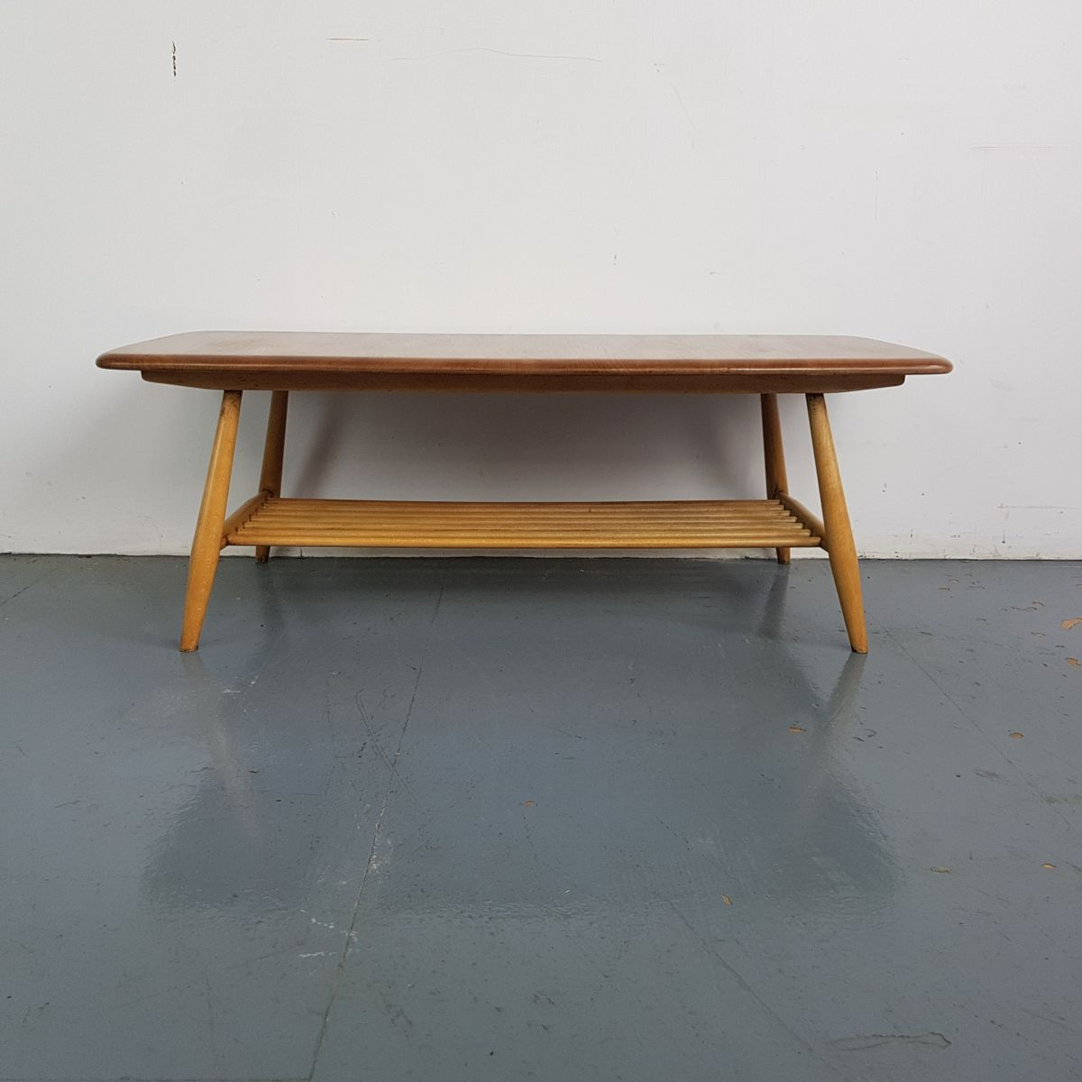 Vintage Beech Coffee Table by Lucian Ercolani for Ercol for sale at