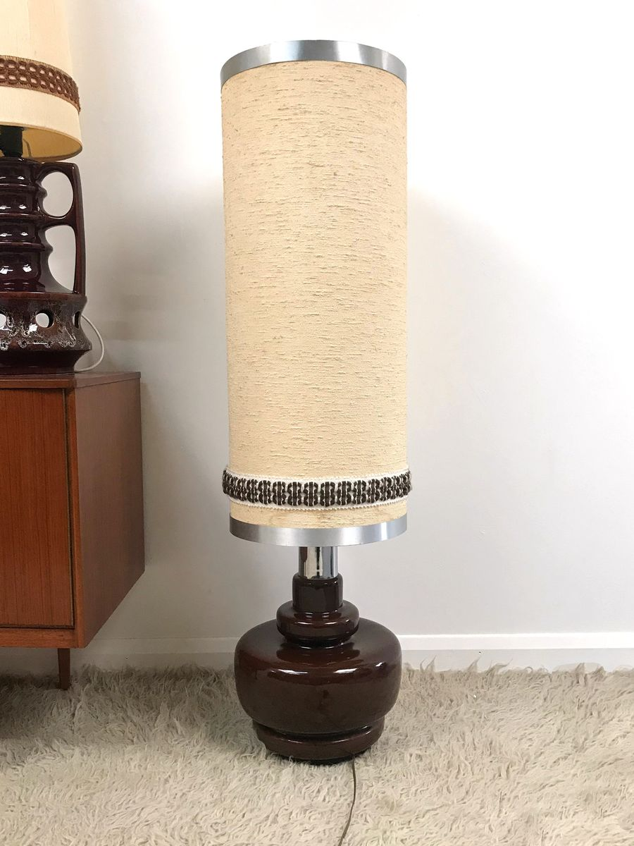 Large ceramic floor lamp 1970s for sale at pamono large ceramic floor lamp 1970s mozeypictures Images