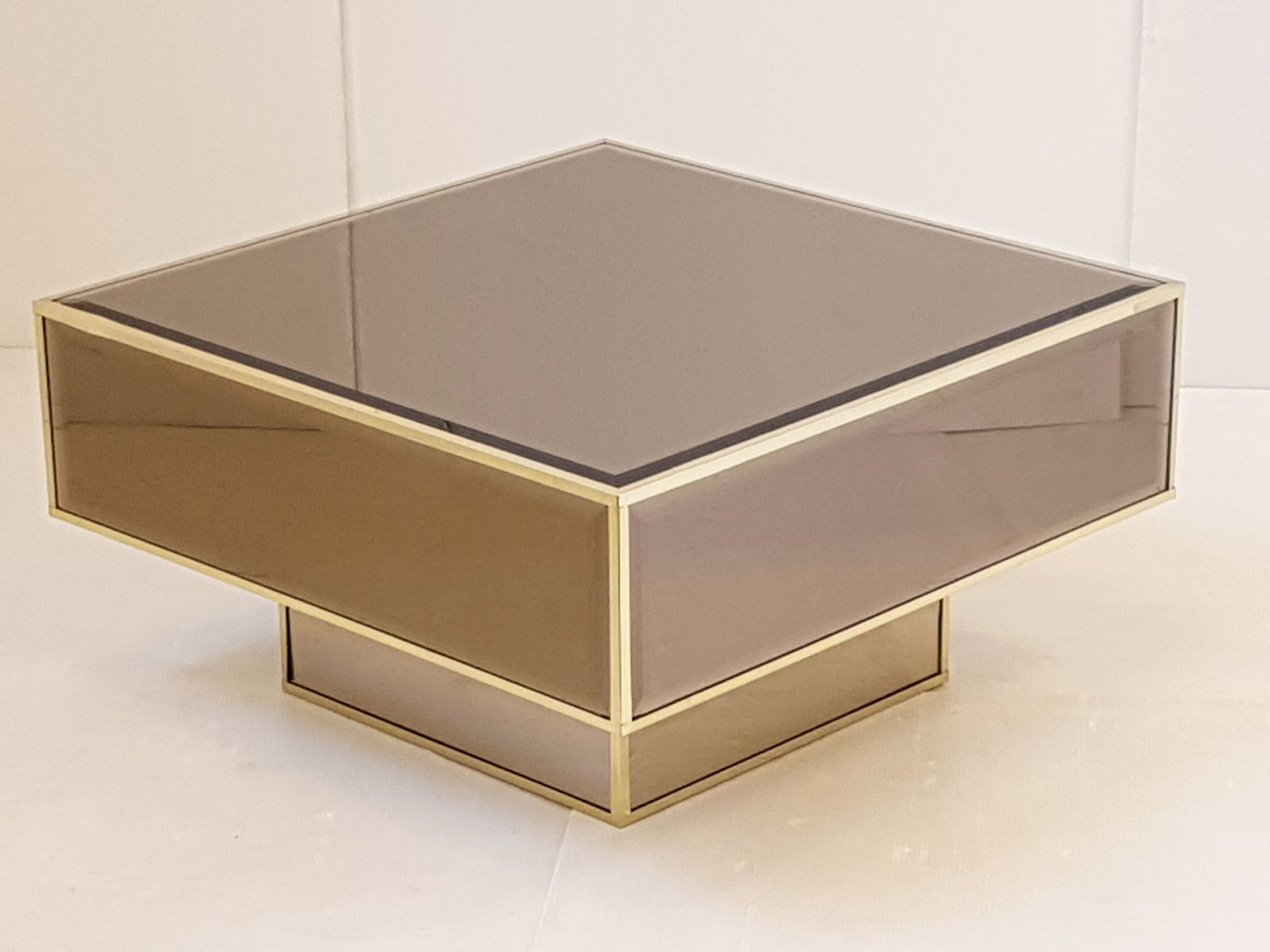 French Mirrored Glass Coffee Table from Roche Bobois 1970s for sale
