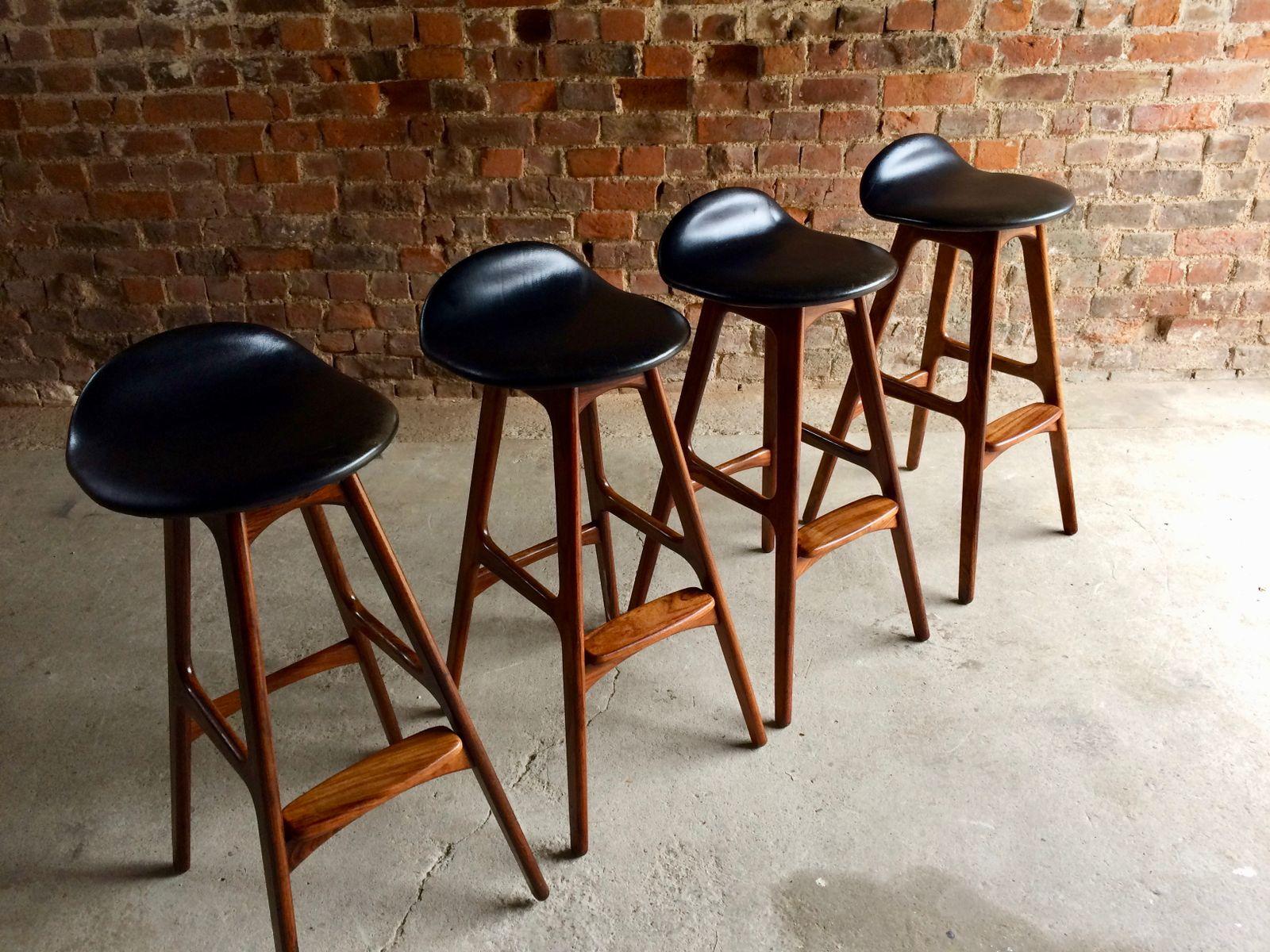 Danish Rosewood Bar Stools By Erik Buch For O D M 248 Bler