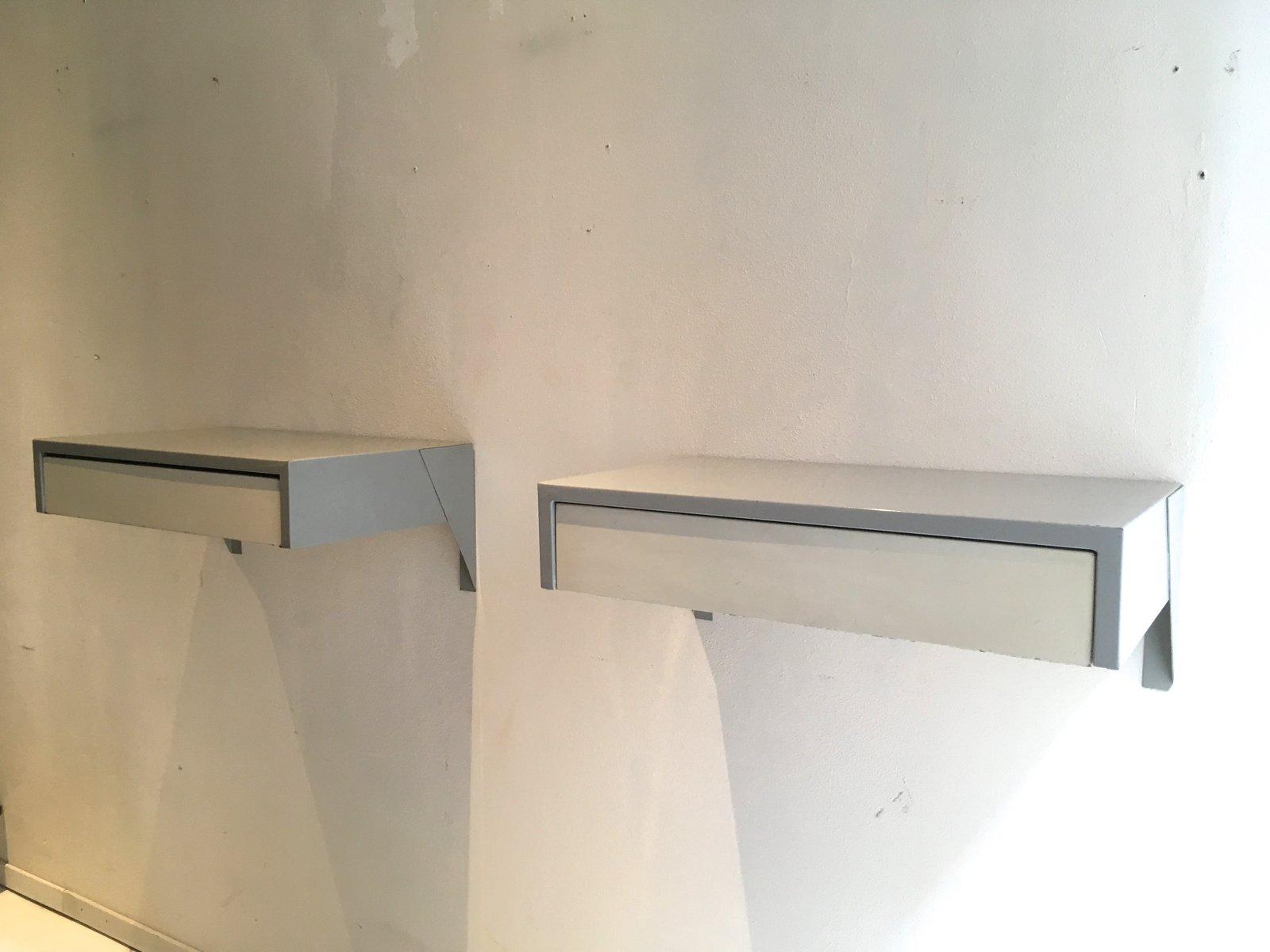 DD01 Wall Mounted Bedside Cabinets By Martin Visser For U0027t Spectrum, 1956,  Set Of 2