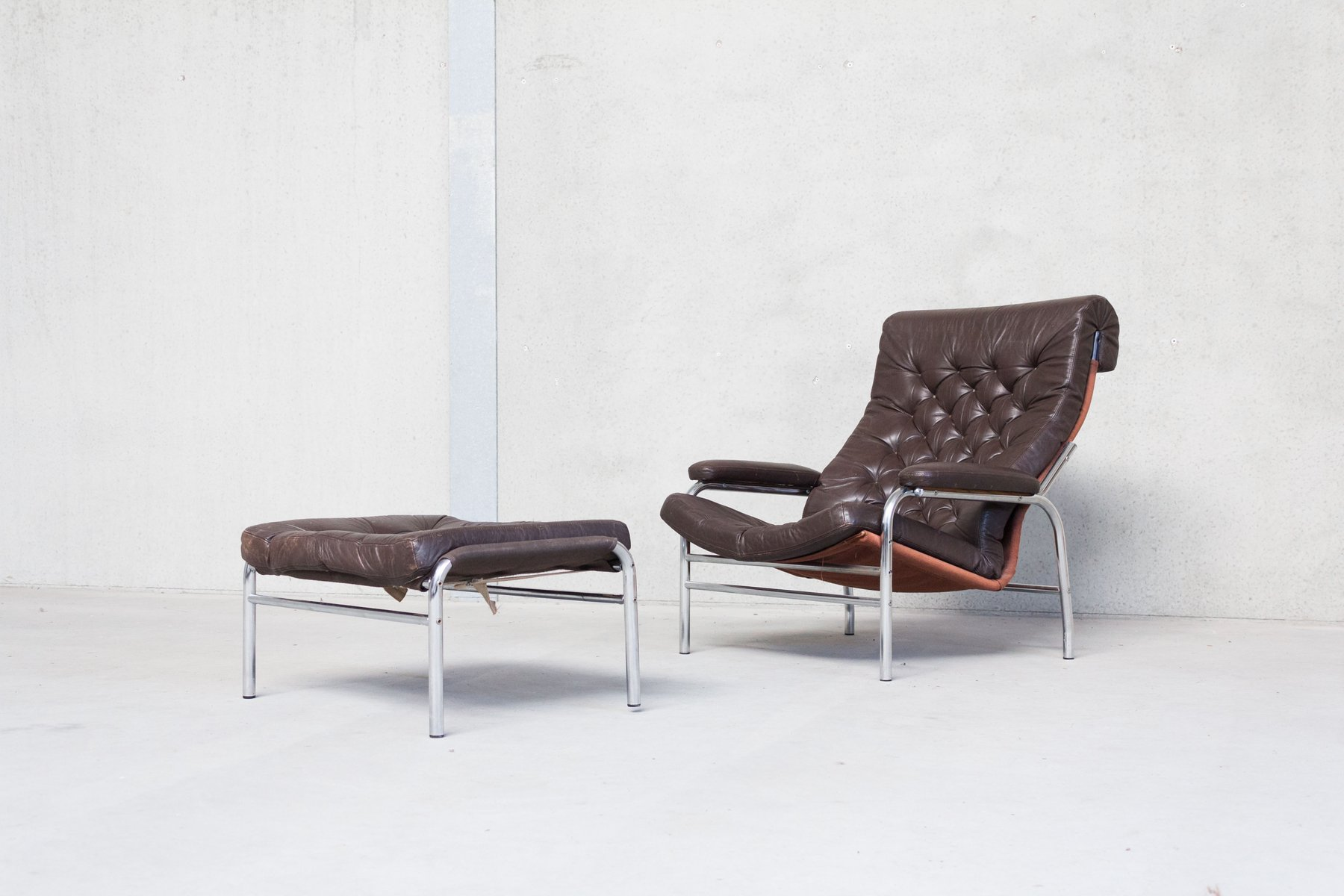 Tavolo In Teak Ikea : Mid century bore chair with ottoman by noburu nakamure for ikea