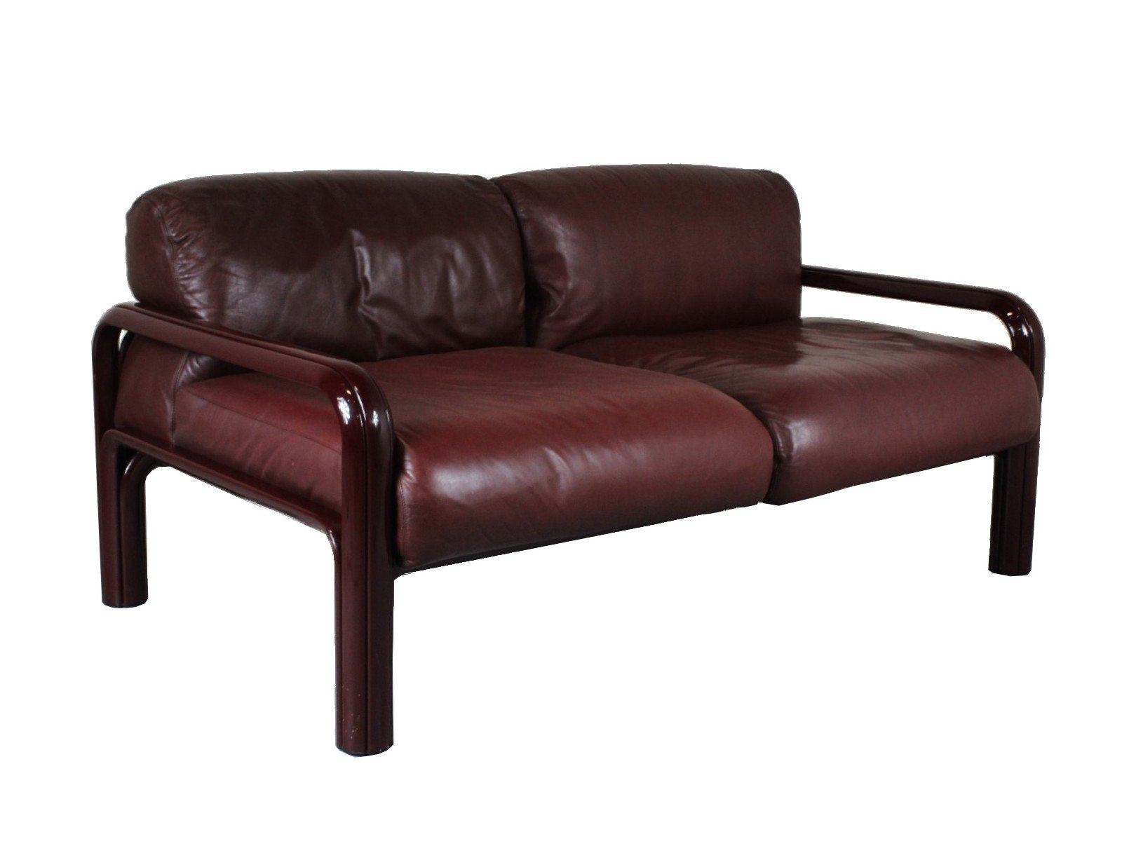 2 Seater Leather Sofa By Gae Aulenti For Knoll, 1970S
