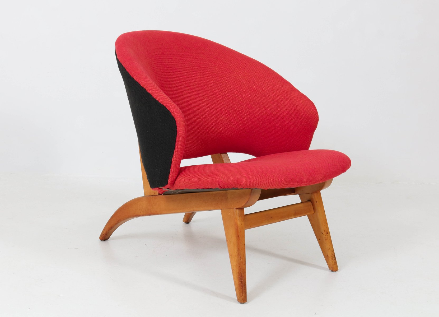 Mid Century Dutch Modern Lounge Chair By Theo Ruth For Artifort,