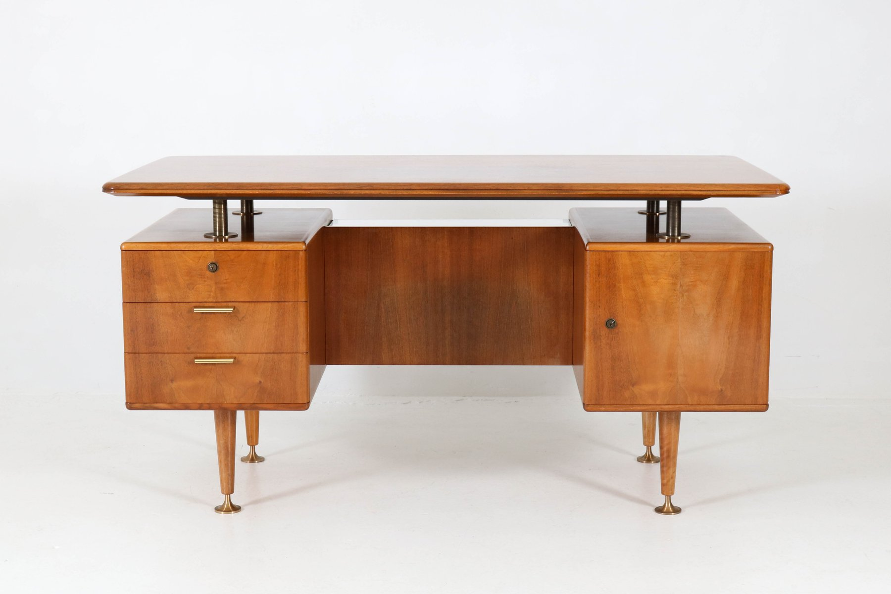 Mid Century Modern Walnut Desk By Aa Patijn For Poly Z, 1960S