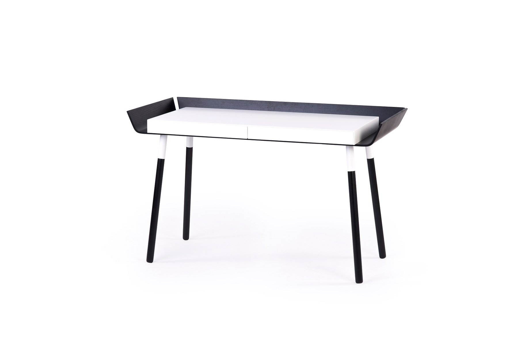 Large My Writing Desk In Black & White By Etcetc