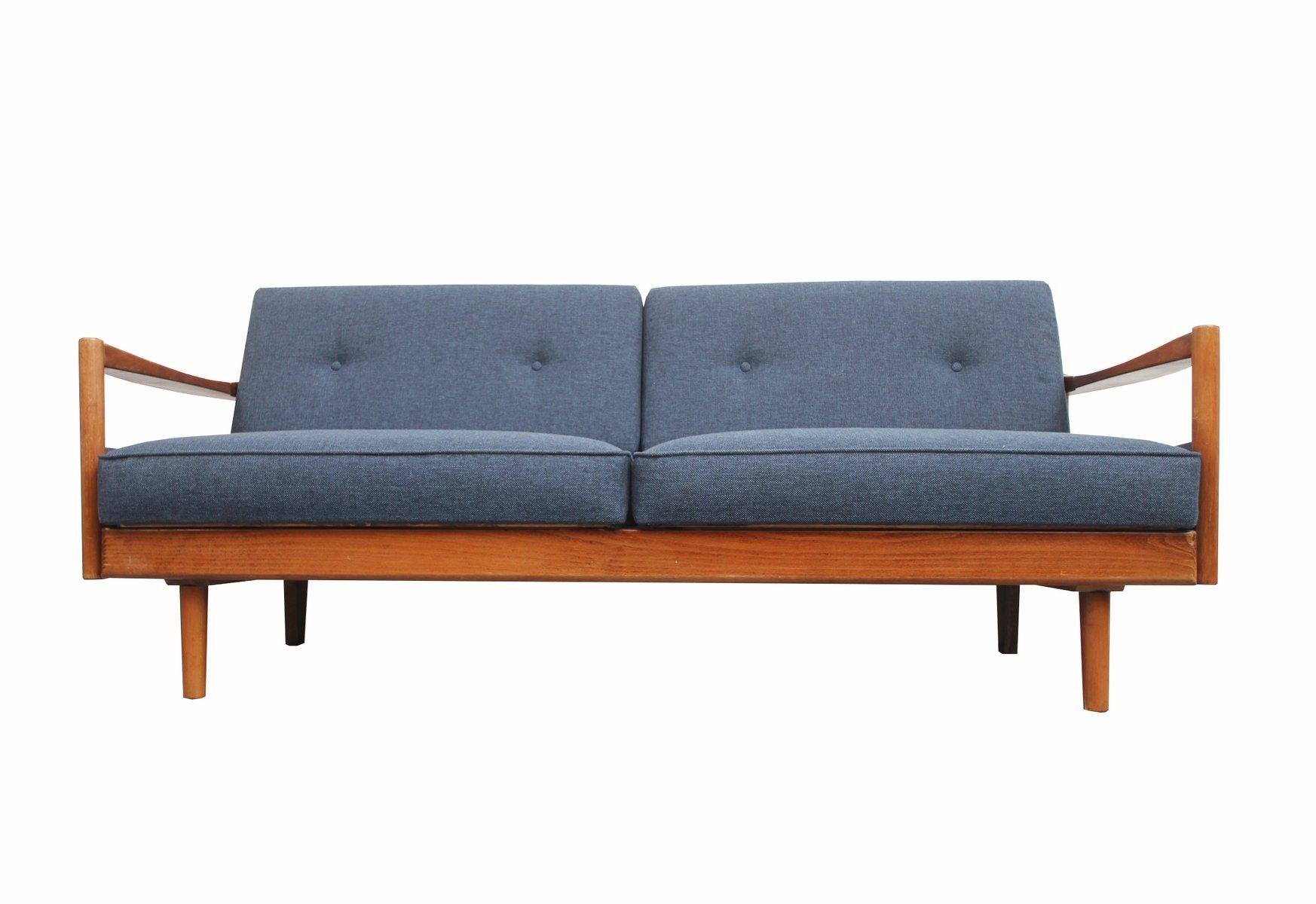 German Blue 2 Seater Sofa, 1960S