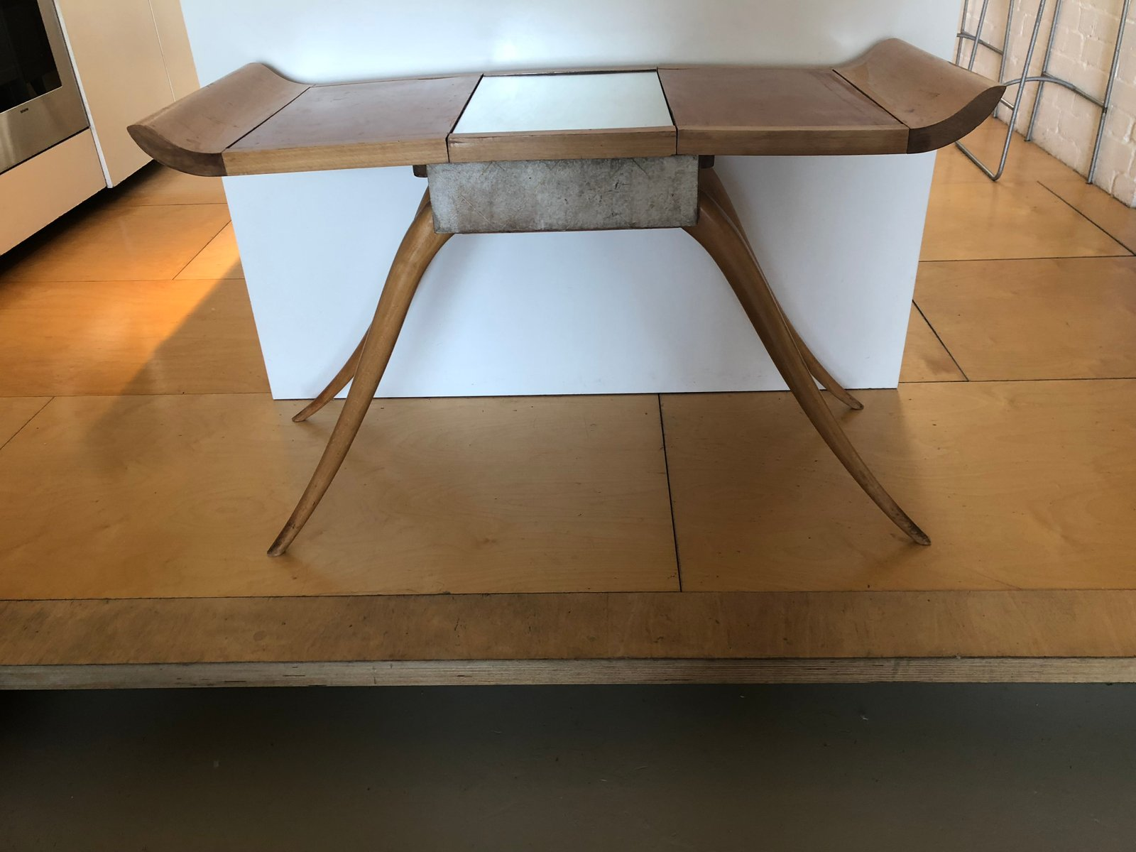 Art Deco Parchment & Sycamore Dressing Table By R Ne