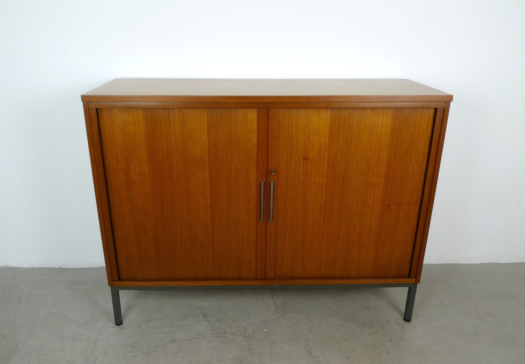German Teak Sideboard With Slatted Doors, 1960S