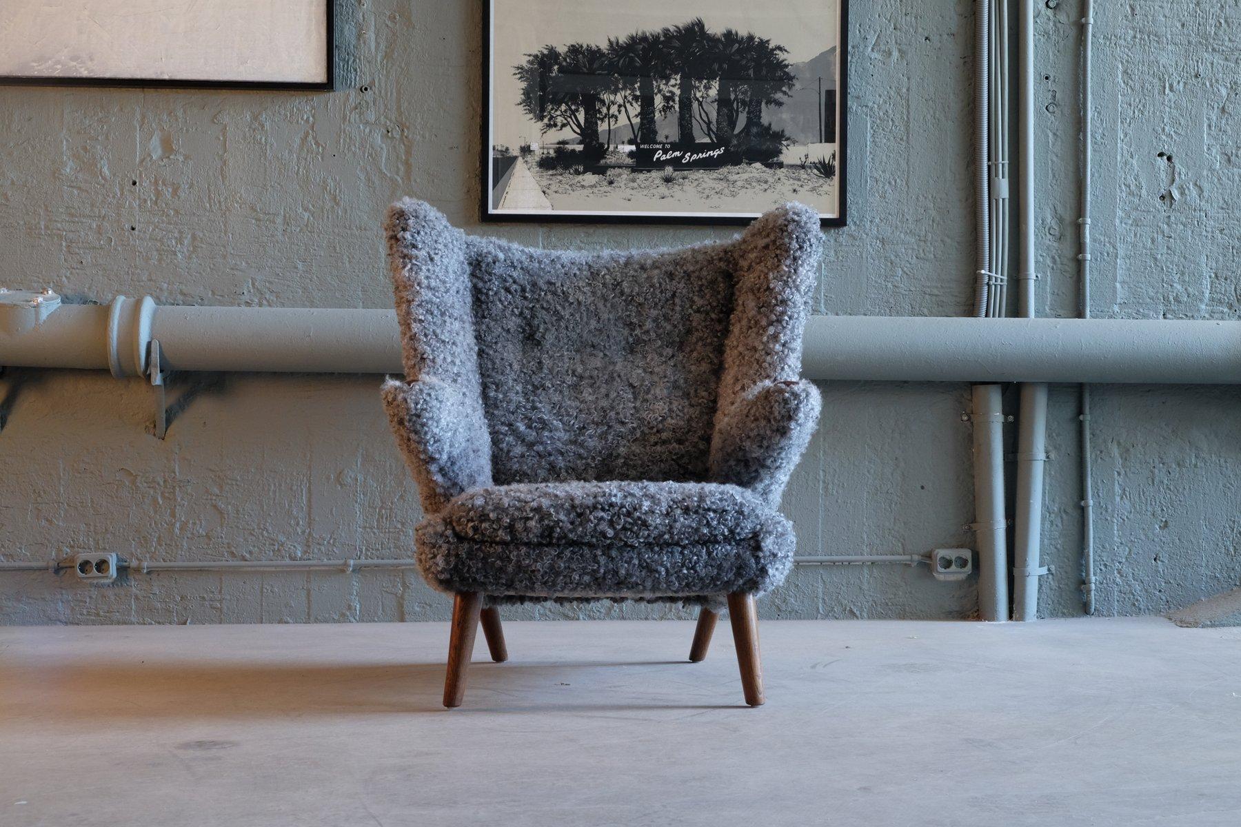 Vintage Papa Bear Easy Chair By Hans J Wegner For
