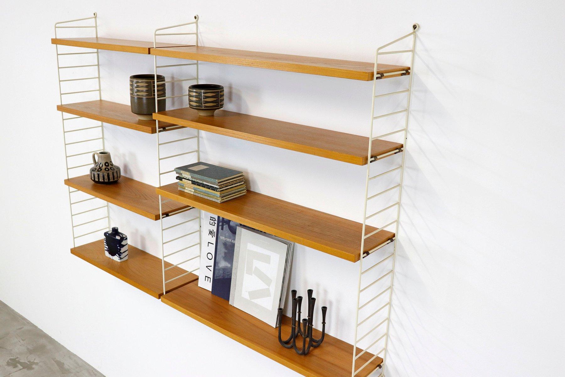 Vintage Ash Veneer Modular Shelving System By Katja & Nisse