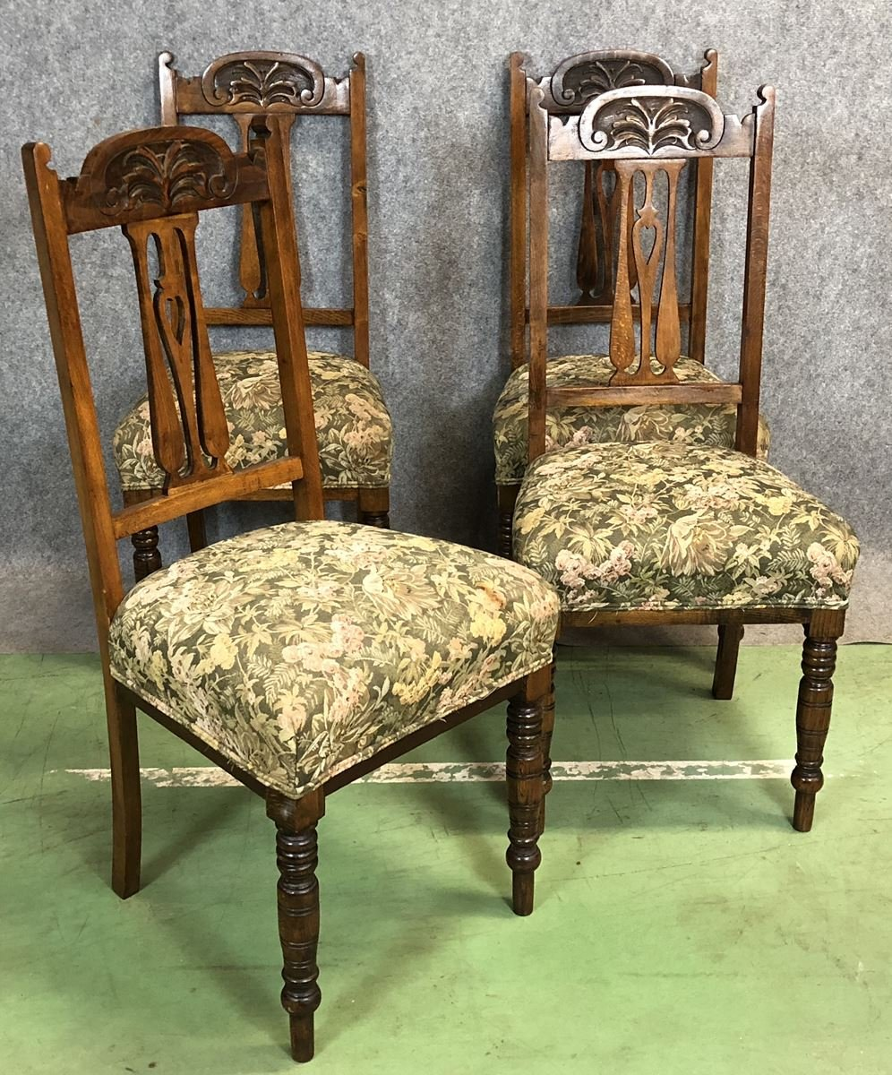 chairs dark cathedral chair worcester gothic original oak antique