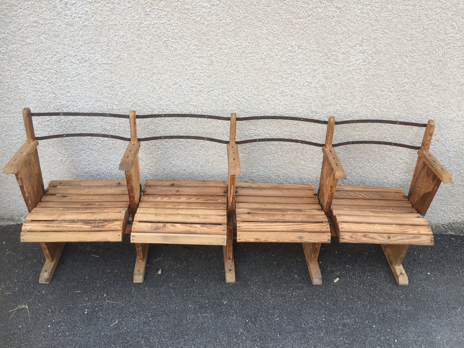 Antique Industrial Wooden Bench Antique Wooden Bench73