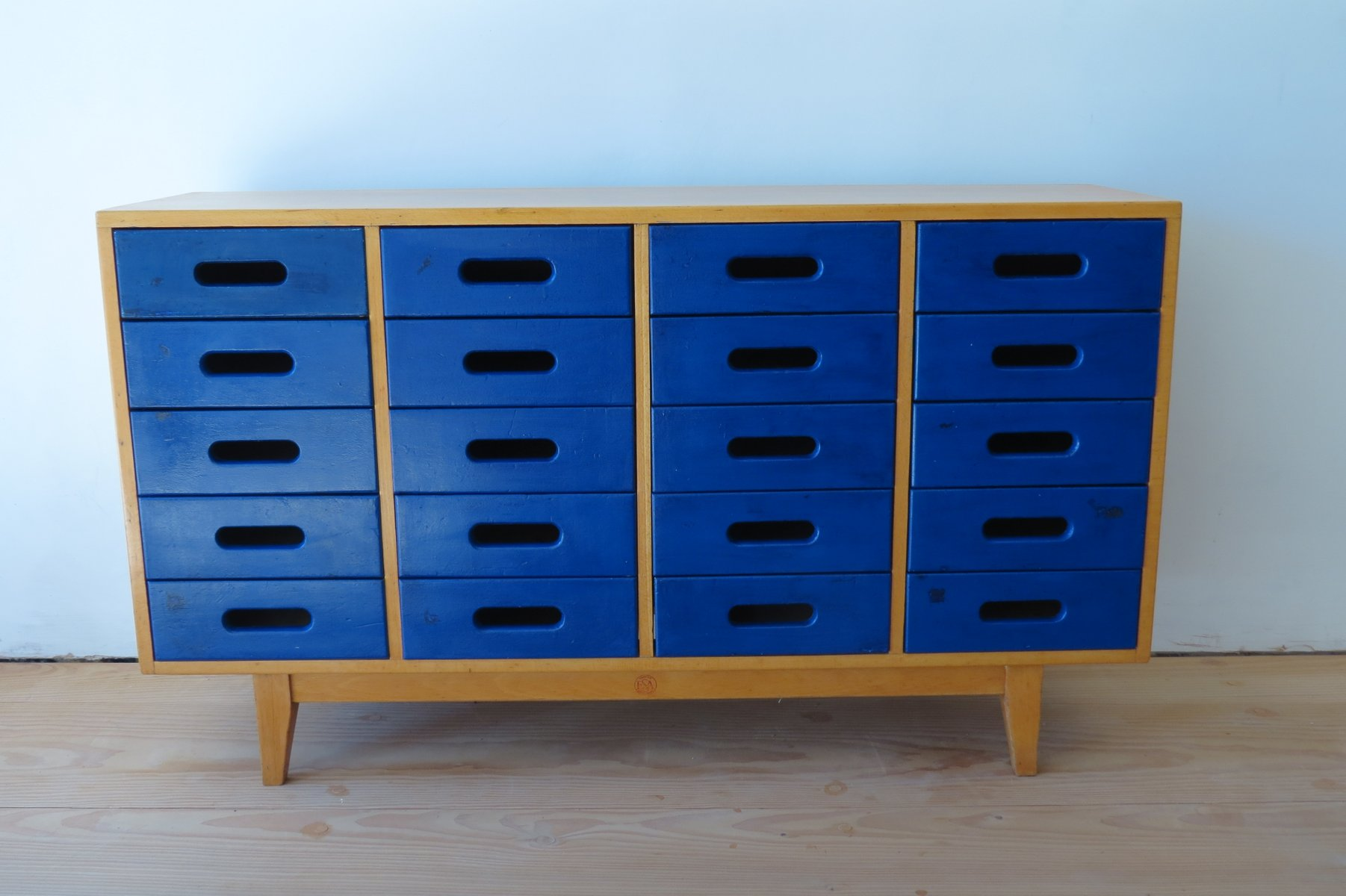 Vintage blue chests of drawers by james leonard for esavian