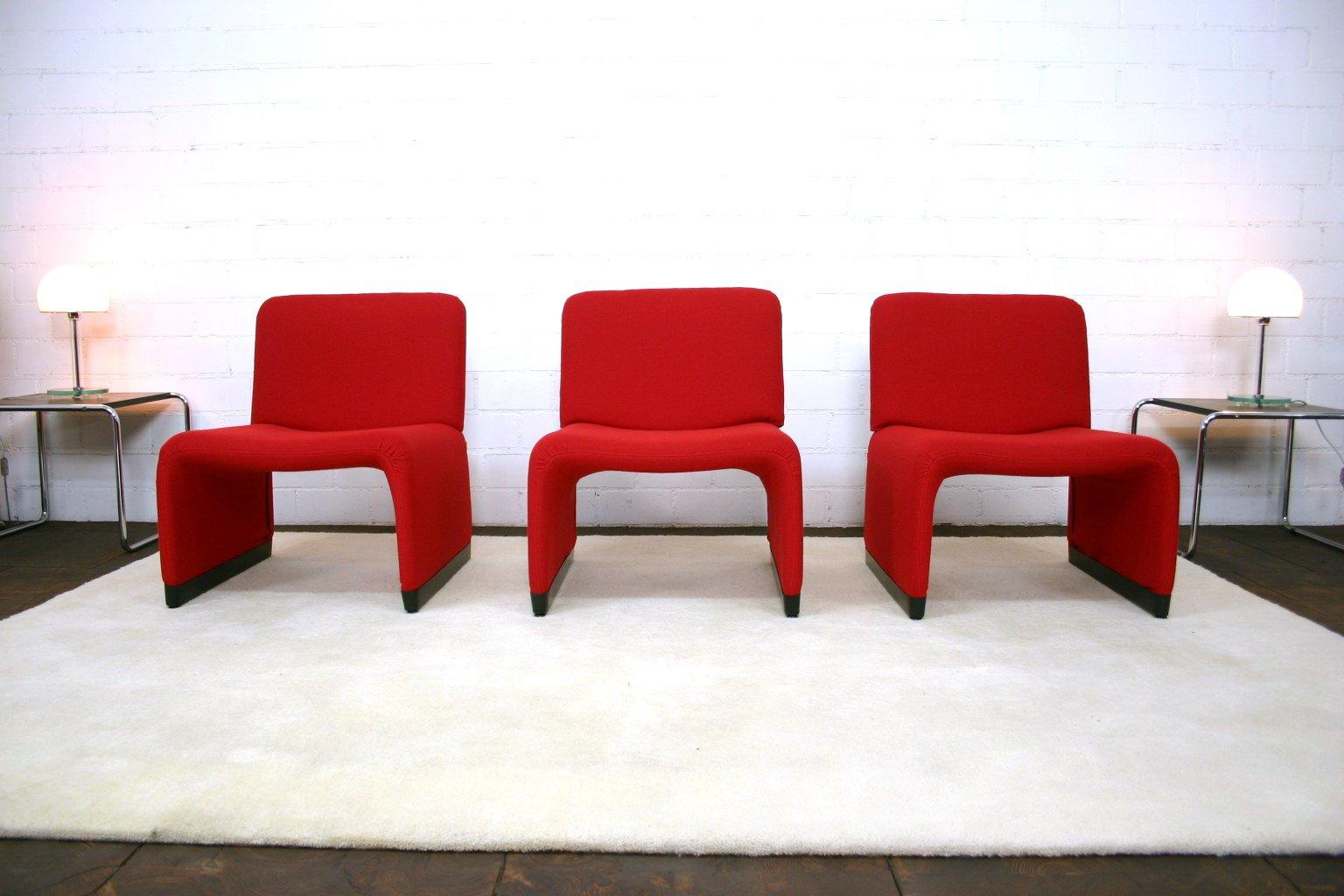 Fauteuil Rouge Avec Cheviote Par Giancarlo Piretti Pour Castelli - Fauteuil rouge design