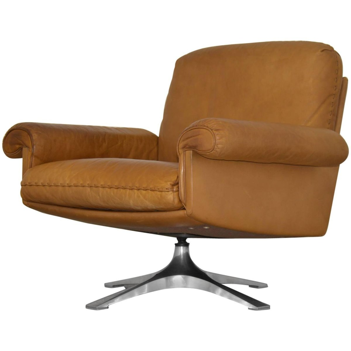 Swiss Vintage Ds 31 Swivel Lounge Armchair From De Sede