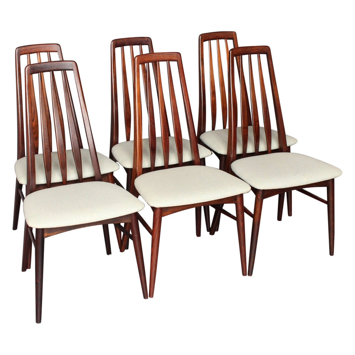 Awesome Eva Chairs By Niels Koefoed For Koefoed Hornslet, 1964, Set Of 6