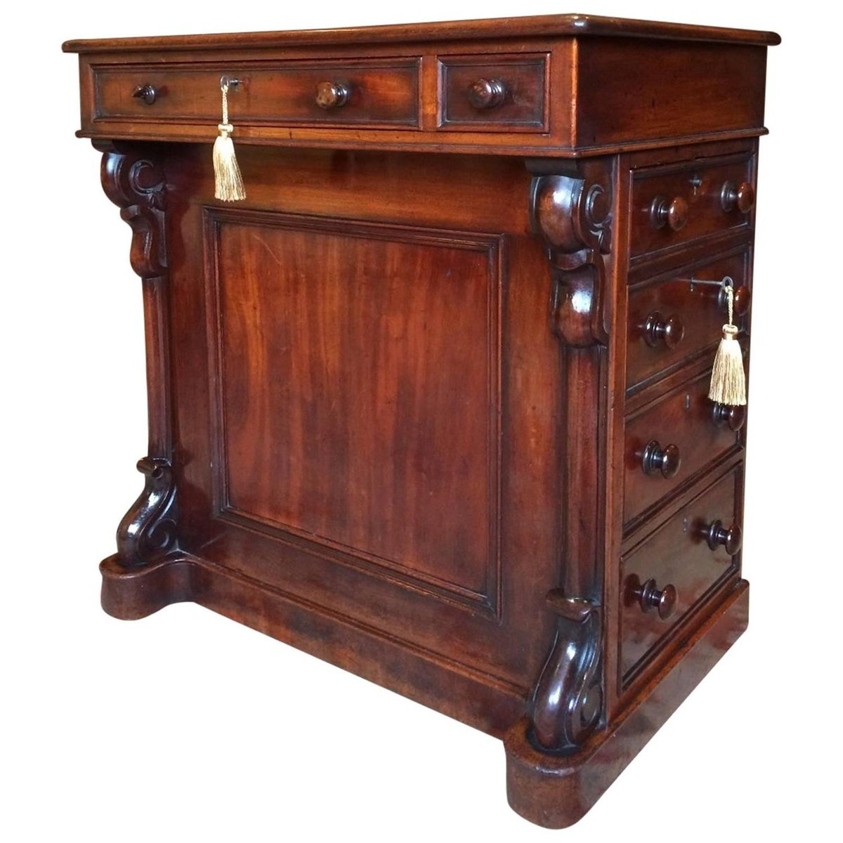 Antique Victorian Mahogany Davenport Desk, 1850s - Antique Victorian Mahogany Davenport Desk, 1850s For Sale At Pamono