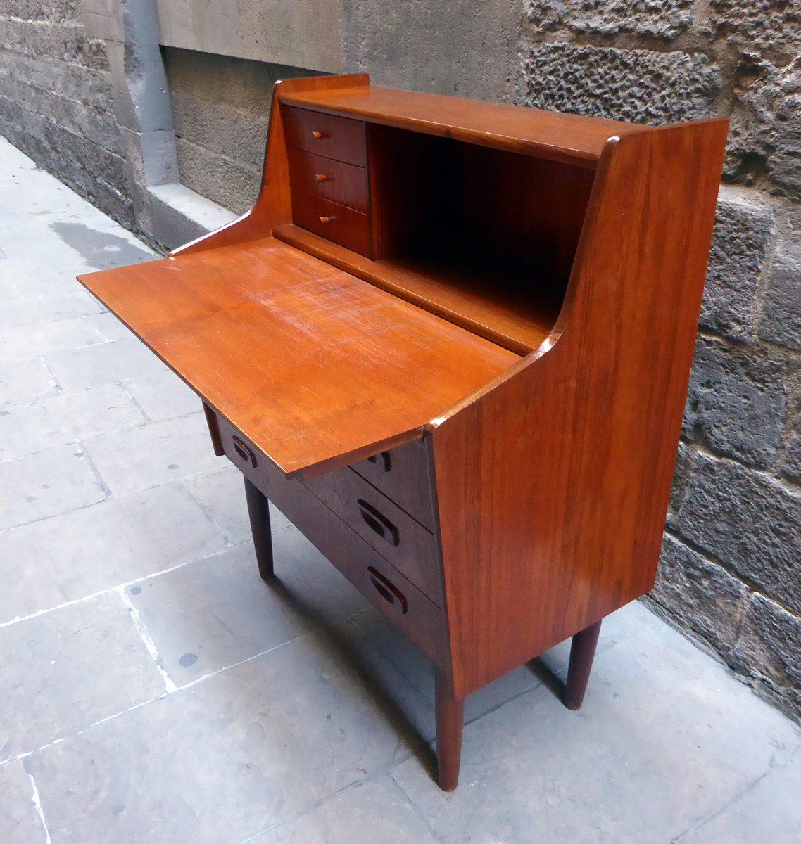 mid century teak schreibtisch sekret r 1960er bei pamono kaufen. Black Bedroom Furniture Sets. Home Design Ideas
