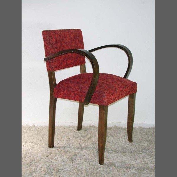 deutscher art deco stuhl mit bogenf rmiger armlehne. Black Bedroom Furniture Sets. Home Design Ideas