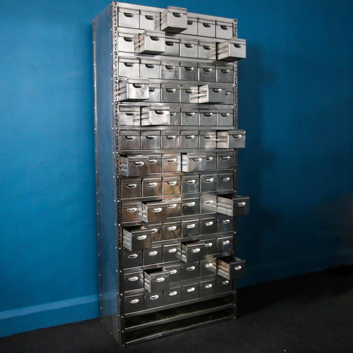 Vintage Steel Multi Drawer Storage Unit
