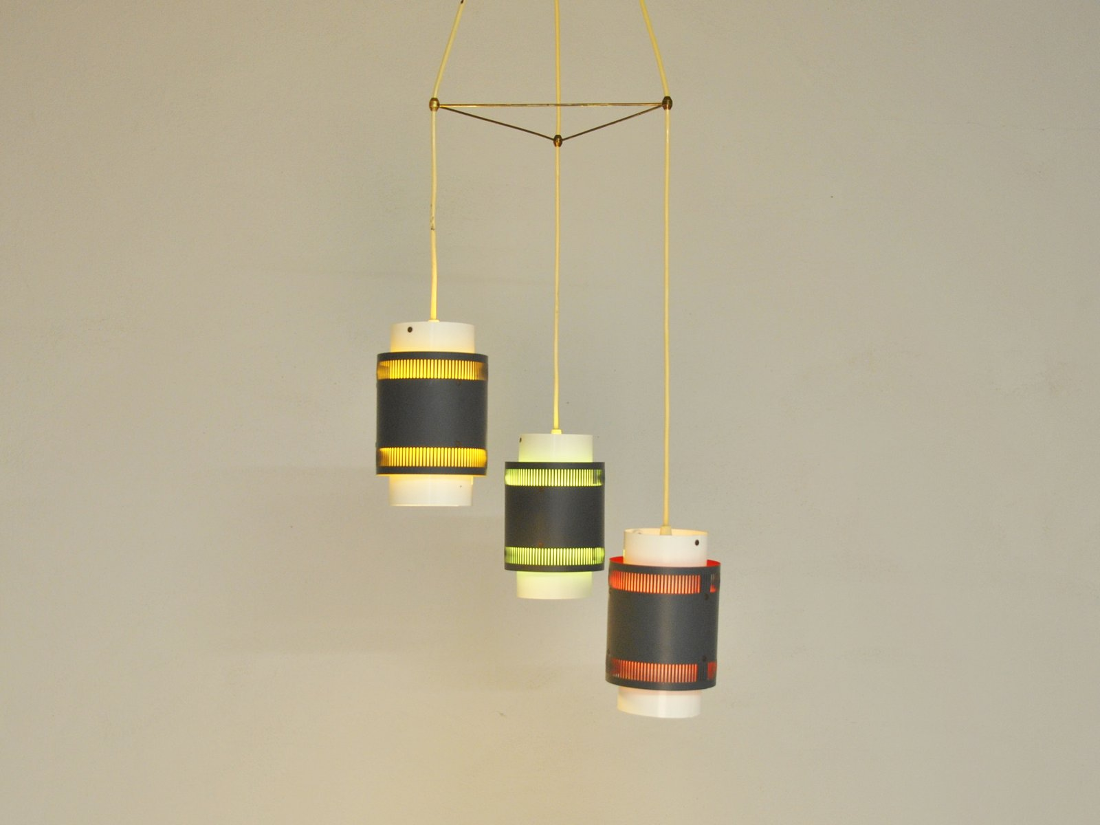 Vintage Danish 3-Pendant Hanging Lamp for sale at Pamono for Cylinder Hanging Lamp  61obs