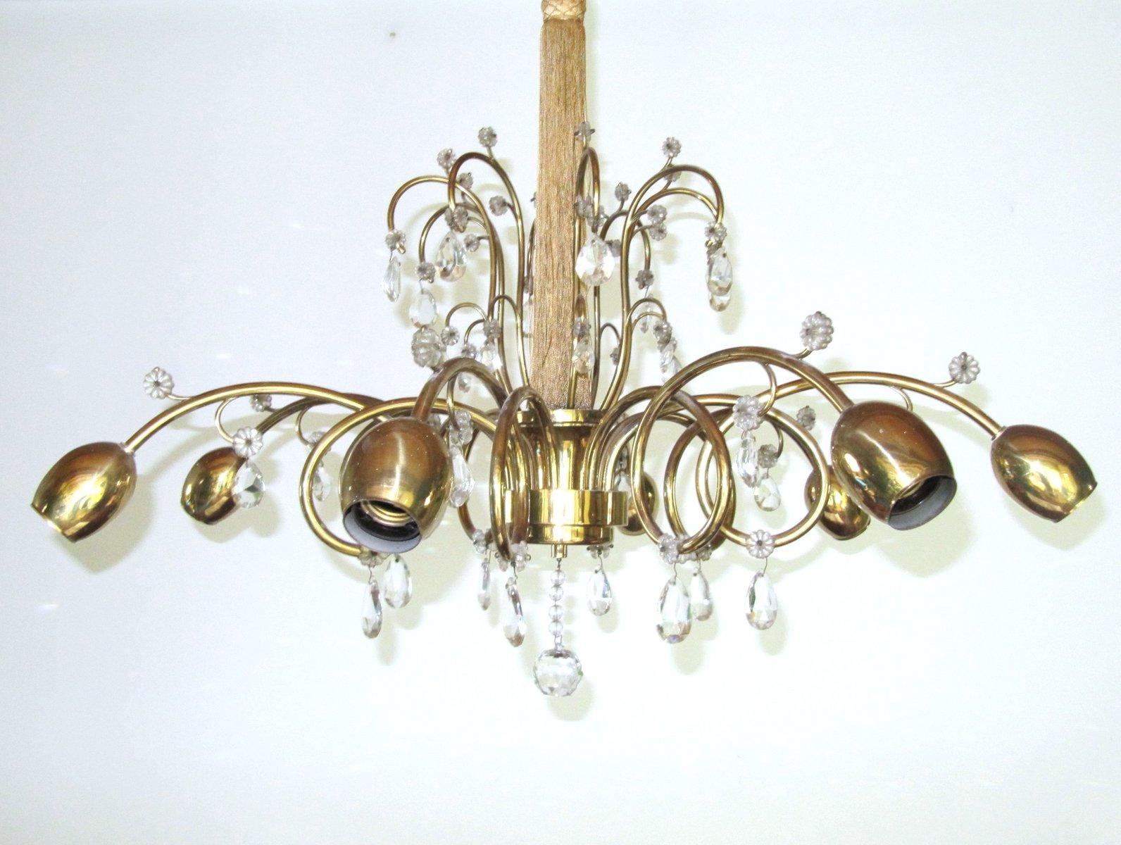 Large austrian art deco chandelier from jl lobmeyr for sale at pamono aloadofball Gallery