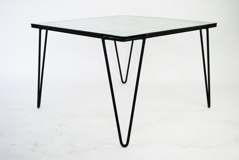 glas und metall couchtisch von arnold bueno de mesquita f r goed wonen 1955 bei pamono kaufen. Black Bedroom Furniture Sets. Home Design Ideas