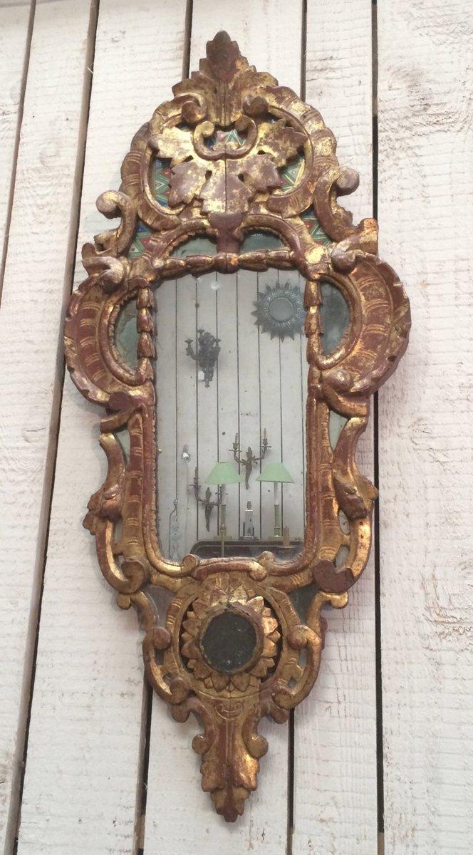 Antiker vergoldeter spiegel mit holzrahmen bei pamono kaufen - Alter spiegel mit holzrahmen ...