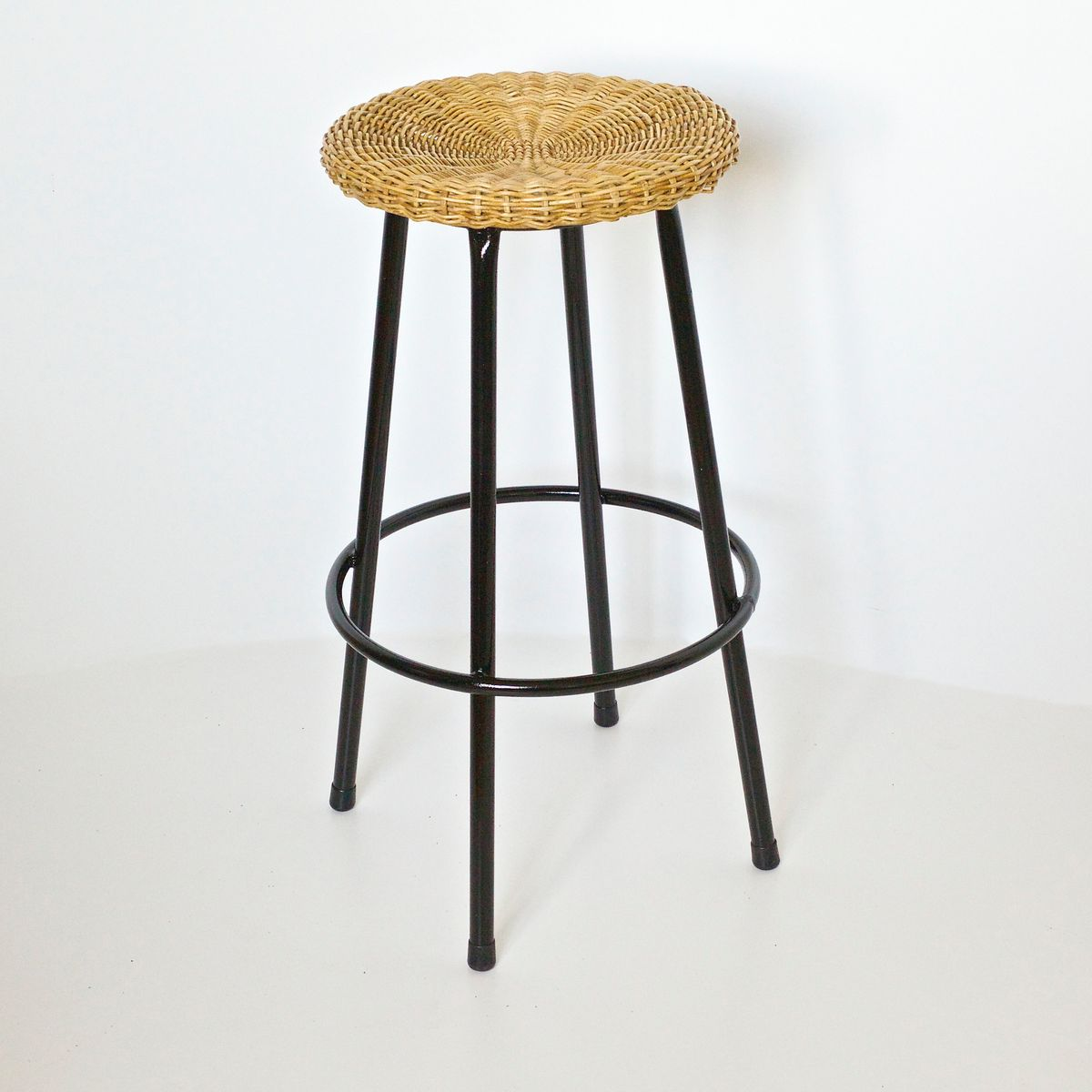 Vintage High Wicker Bar Stool From Rohe Noordwolde 1950s For Sale At Pamono