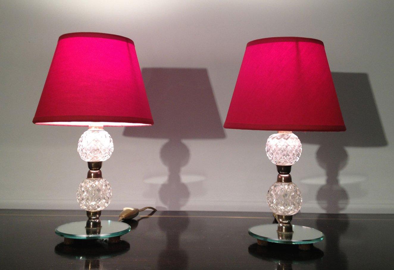 Kleine glas und spiegel lampen 1950er 2er set bei pamono for Spiegel und glas