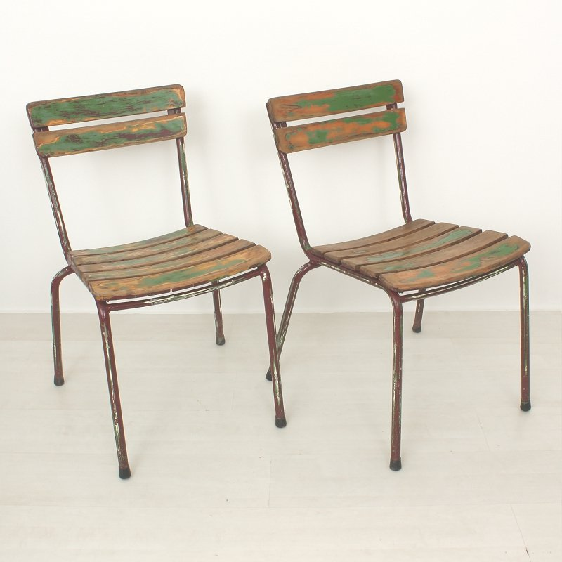 franz sische vintage gartenst hle 2er set bei pamono kaufen. Black Bedroom Furniture Sets. Home Design Ideas