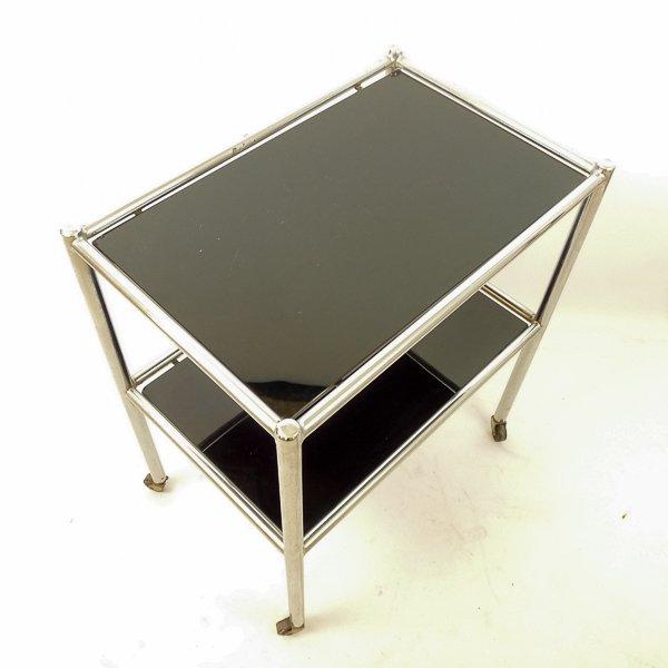 bauhaus metall glas servierwagen bei pamono kaufen. Black Bedroom Furniture Sets. Home Design Ideas