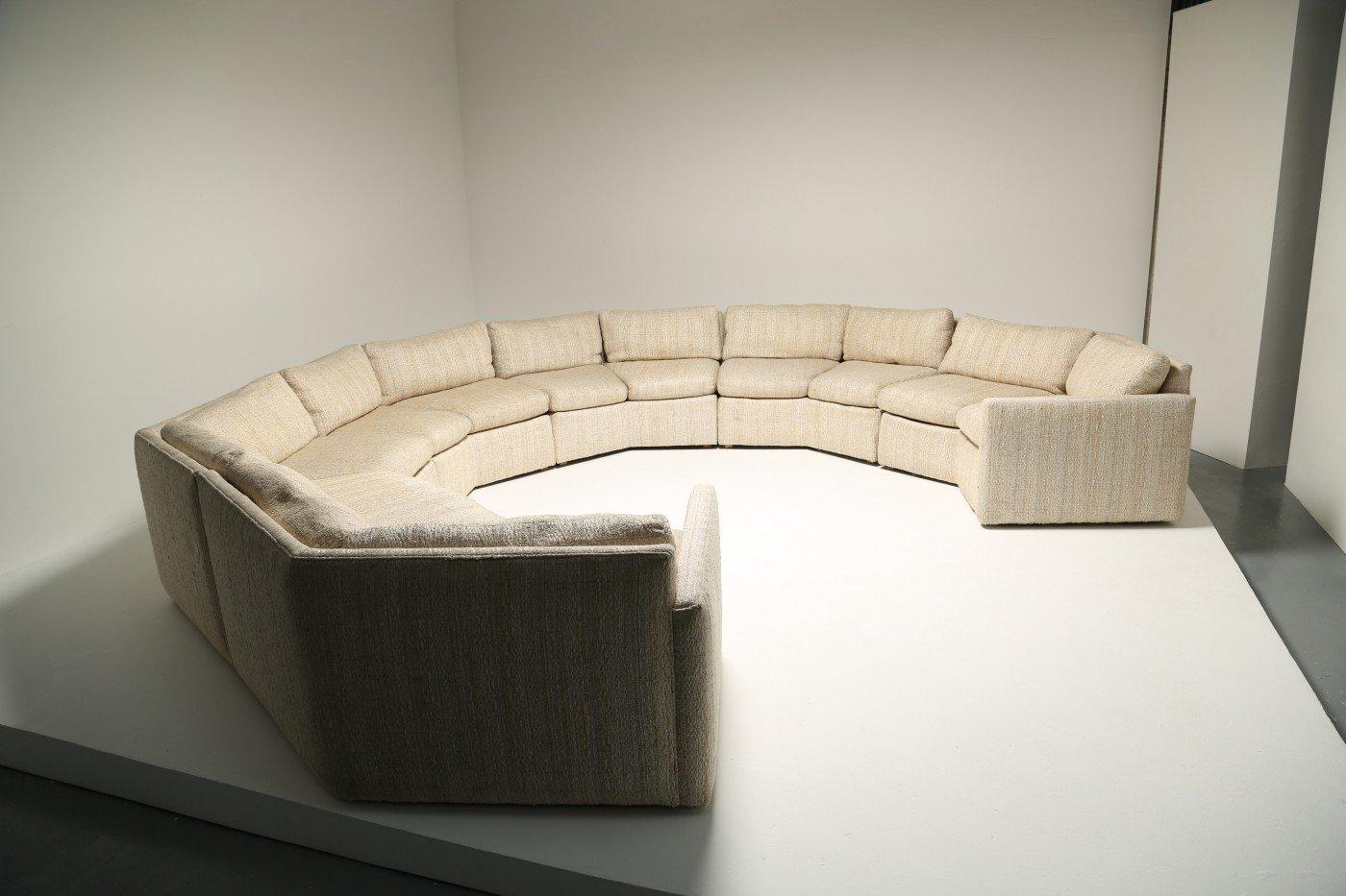 Vintage Tweed Sectional Sofa