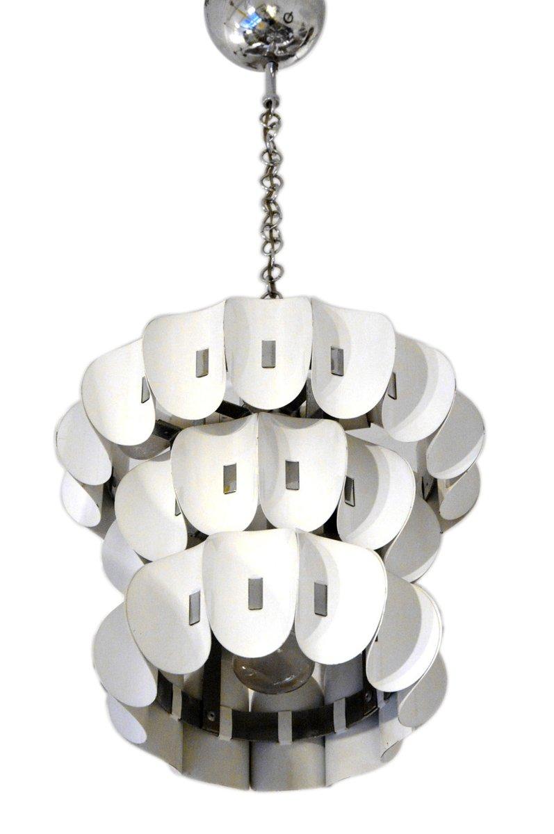 italienischer verchromter metall kronleuchter bei pamono. Black Bedroom Furniture Sets. Home Design Ideas