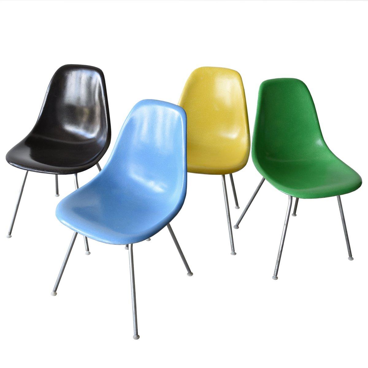chaise vintage dsx par charles ray eames pour herman miller set de 4 en vente sur pamono. Black Bedroom Furniture Sets. Home Design Ideas