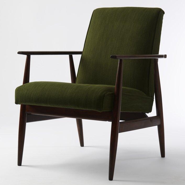 Vintage Green Armchair By Henryk Lis For Dolnośląskie Fabryki Mebli