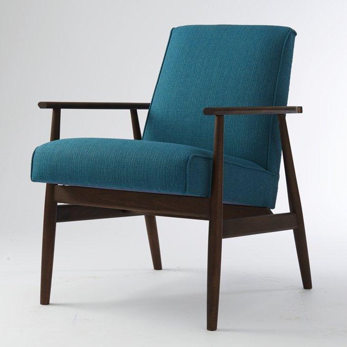 Blue Vintage Polish Lounge Chair For Sale At Pamono