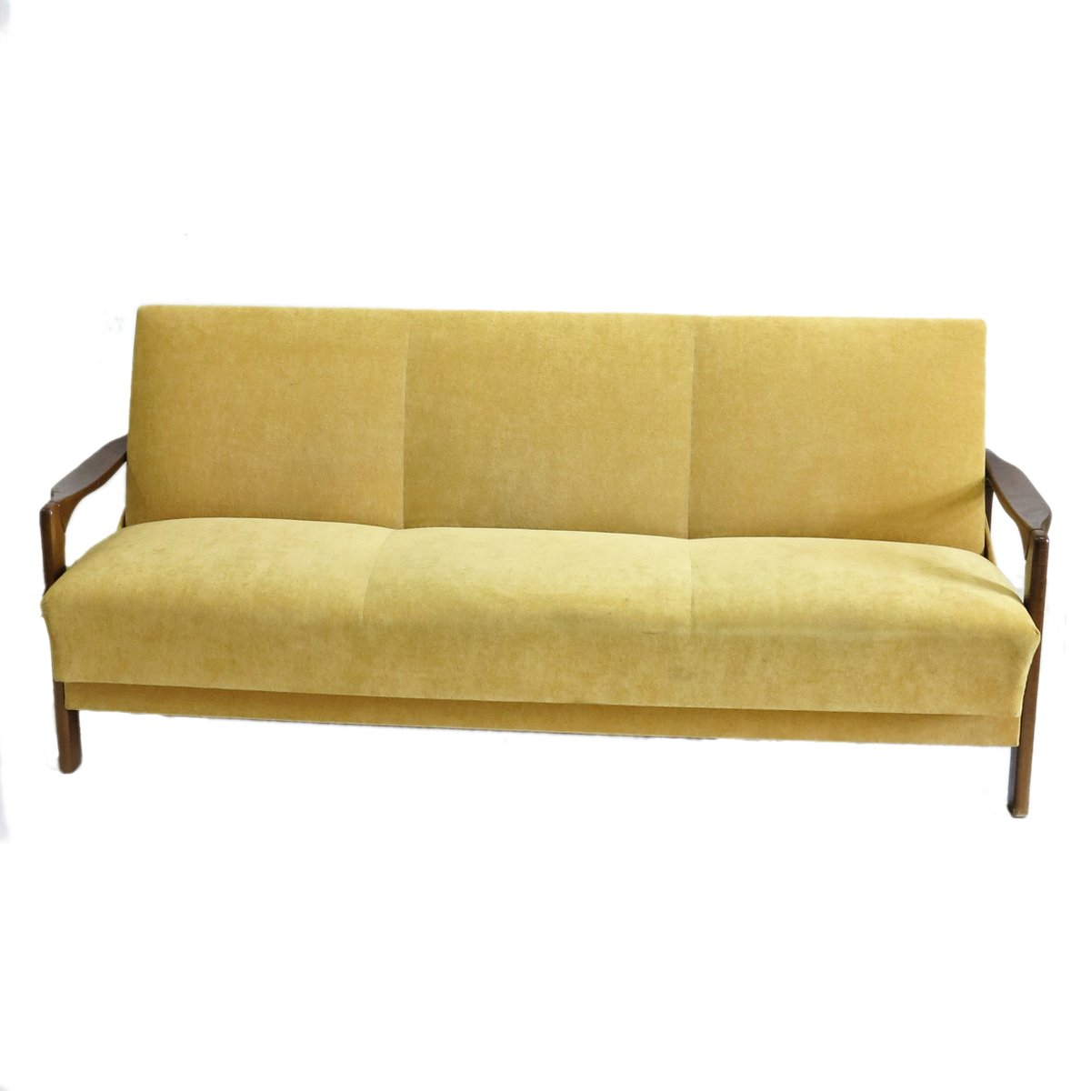 gelbes vintage sofa bei pamono kaufen. Black Bedroom Furniture Sets. Home Design Ideas