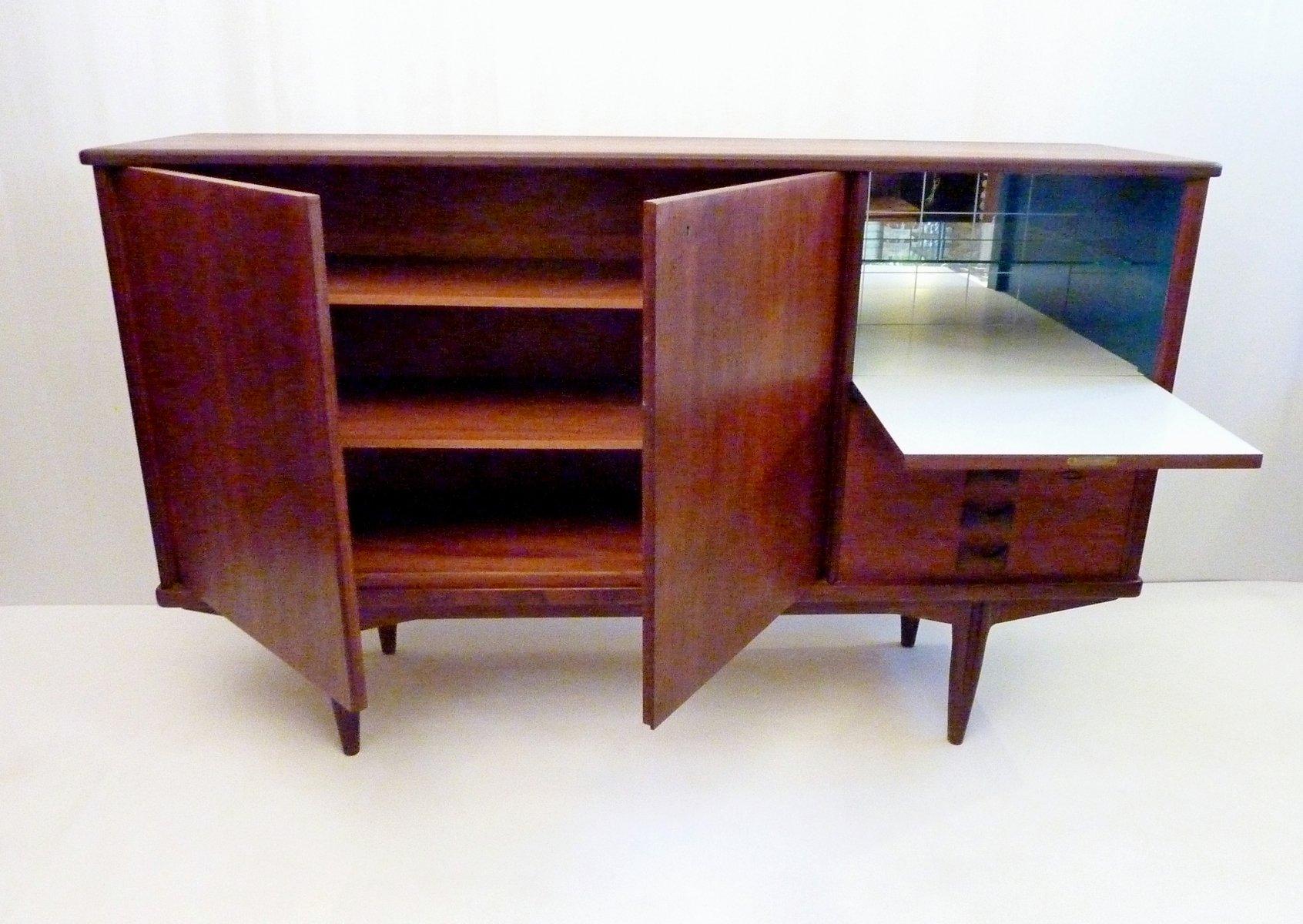 schwedisches mid century sideboard mit bar bei pamono kaufen. Black Bedroom Furniture Sets. Home Design Ideas