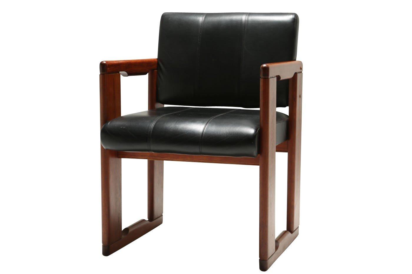 vintage leder stuhl von tobia scarpa bei pamono kaufen. Black Bedroom Furniture Sets. Home Design Ideas