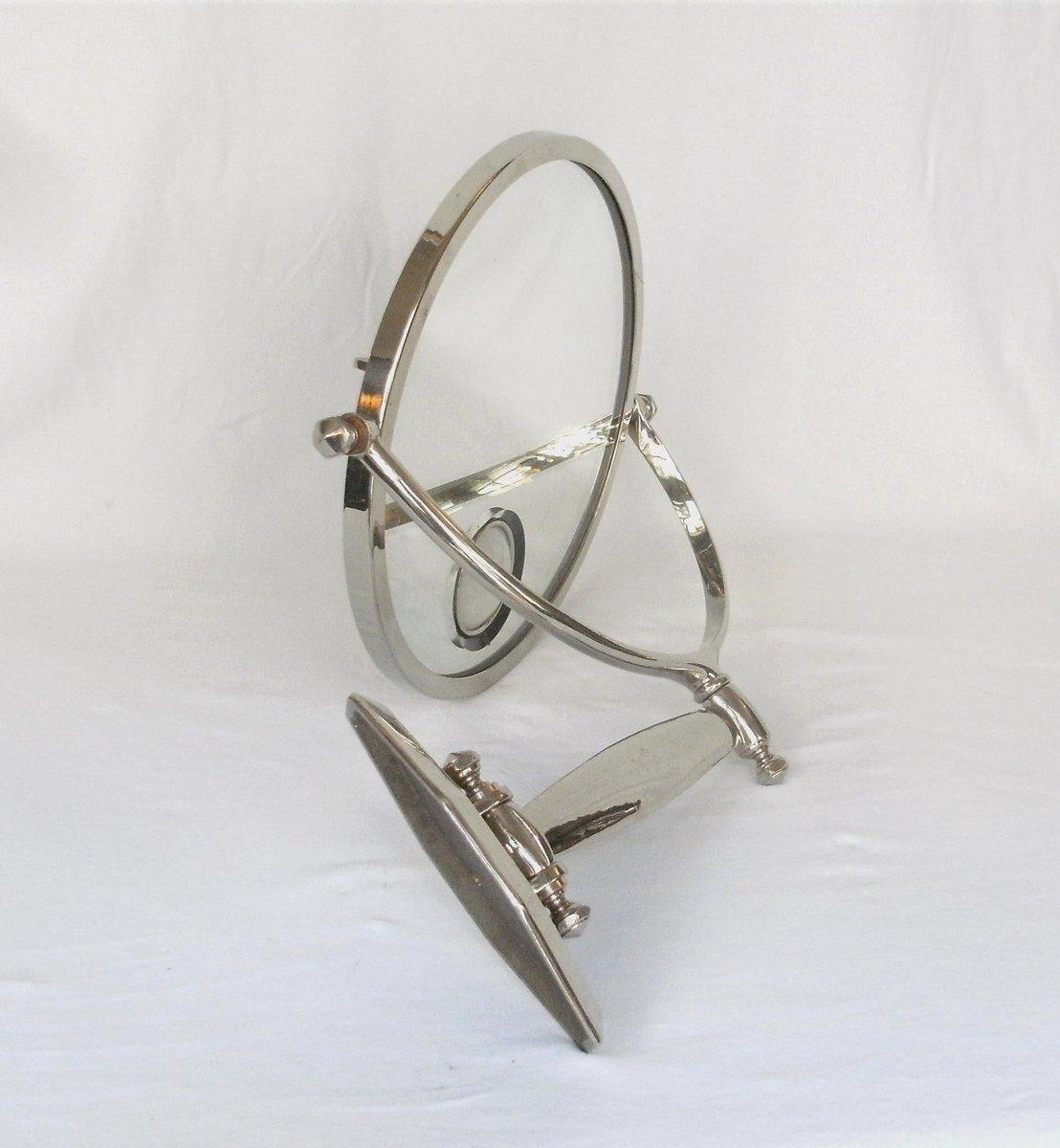 franz sischer art deco wandspiegel mit licht bei pamono kaufen. Black Bedroom Furniture Sets. Home Design Ideas