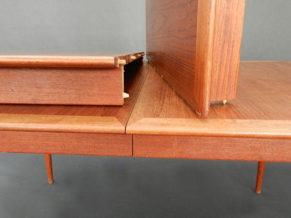 verstellbarer d nischer esstisch aus teak bei pamono kaufen. Black Bedroom Furniture Sets. Home Design Ideas