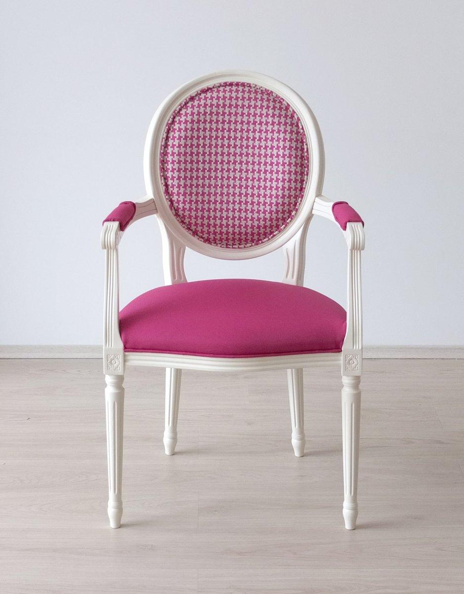 chaise blanche en h tre avec tissu d 39 ameublement designers guild de photoliu 2015 en vente sur. Black Bedroom Furniture Sets. Home Design Ideas