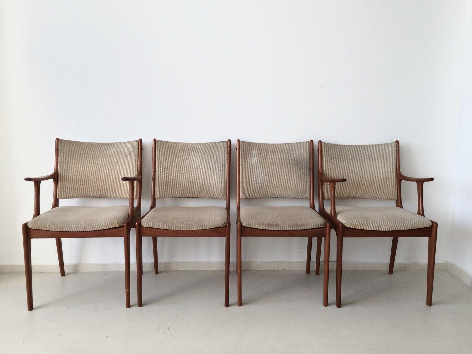Teak Dining Chairs By Johannes Andersen For Uldum Mobelfabrik Set Of 4 Sale At Pamono