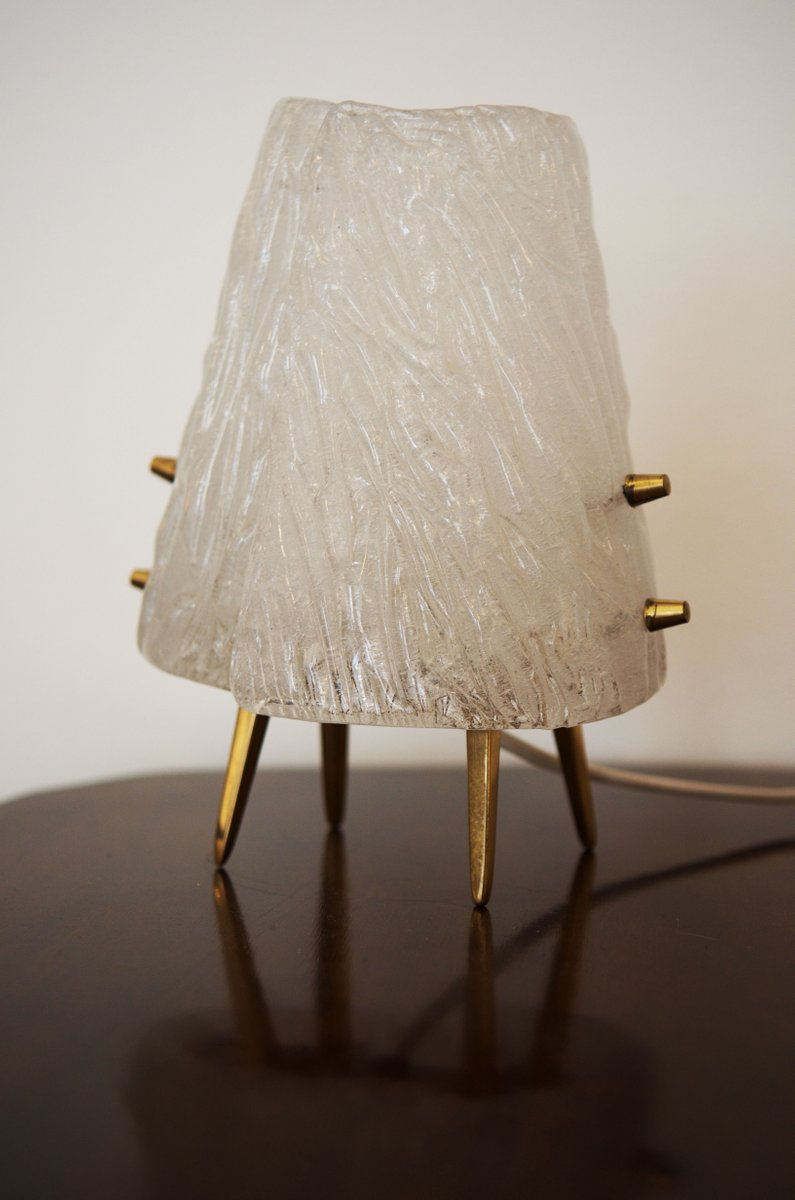 Ice glass table lamps from kalmar 1950 set of 2 for sale at pamono ice glass table lamps from kalmar 1950 set of 2 audiocablefo