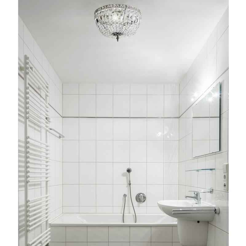 schwedischer vintage chrom badezimmer kronleuchter f r niedrige decken bei pamono kaufen. Black Bedroom Furniture Sets. Home Design Ideas